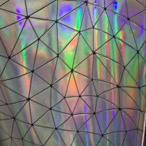 Geometric Iridescent holographic PU mirror leather fabric material for handbag,DIY,body harness,appearl,costume