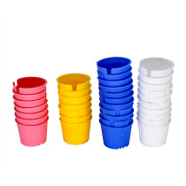 100 PCS Dental Disposable plastic dappen dish Acrylic Prophy Four Colors