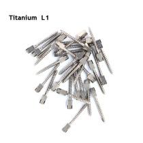 30pcs Dental endodontic material bulk sale PURE TITANIUM SCREW POST size L1