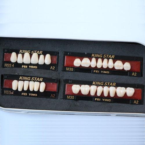 1 set Dental Kingstar synthetic Resin False/fake teeth A2 HSS4 dental supply