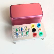 Dental 36 holes disinfection box for endo files and Gutta Percha Points Red