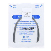 Dental 10 pack orthodontic thermal activated niti arch wire oval form 016 upper
