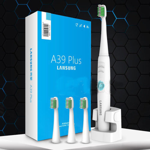 Electric Rechargeable Ultrasonic Rotating Toothbrush With 3 Heads 220v