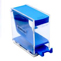 1pcs/box Dental Dispenser Holder Dental Cotton Roll Press 6 colors Blue