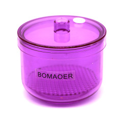 1pc Dental plastic Disinfection box Soak Disinfection Cup Red color