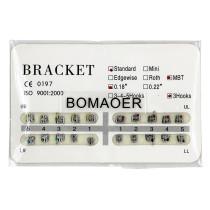 Dental 1 kit Orthodontic Mental Bracket Brace Standard MBT 018 3hooks 20pcs/set