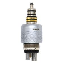 Dental Quick Coupler CX229-GW 6 Hole Fit W&H Fiber Optic Handpiece