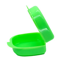 Dental Orthodontic Mouthguard Container Retainer Denture Storage Case Green