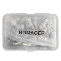 100PCS White Disposable Dental Prophy Brush Nylon Metal Shanks Flat brush PB330