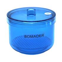 1pc Dental plastic Disinfection box Soak Disinfection Cup Blue color