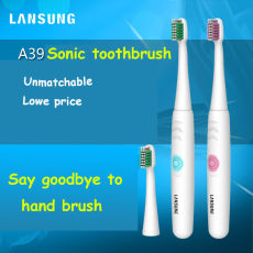 LANSUNG A39 Waterproof Electric Ultrasonic Toothbrush Soft Brushing two color