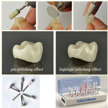 6pcs/Set Polishing Kit for Porcelain Teeth Dental Oral Polishers Grinder RA0206E