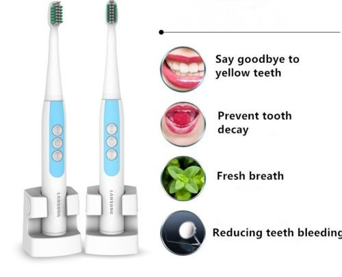 LANSUNG A1 Ultrasonic Sonic Electric Toothbrush Rechargeable Tooth Brushes