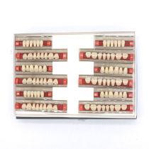 84pcs Dental Complete Denture False Tooth Synthetic Resin A2 Dental Teeth Model