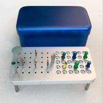 Dental Disinfection box for endo files polisher & burs 3 use 60 holes