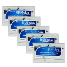 5PCS Dental Orthodontic Blue Glue Adhesive-Light Cure Adhesive paste in syinges
