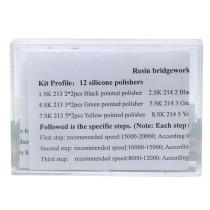 New 1 Kit Dental Diamond Burs Base Polishing Kits Hidden Denture HP0412