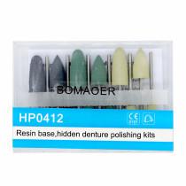 New 10 Kits Dental Diamond Burs Base Polishing Kits Hidden Denture HP0412
