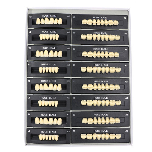 112Pcs/Pack HUGE KAILI A2 Dental Synthetic Polymer Resin Teeth T2 L2 30 A2