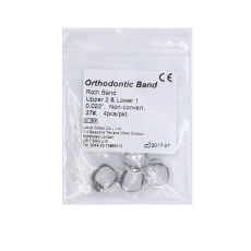 NEW Orthodontic Roth Band with Lingual Cleat non-conv 0.022'' 37# U2 L1 4pcs/pkt