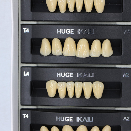 112Pcs/Pack HUGE KAILI A2 Dental Synthetic Polymer Resin Teeth T4 L4 30 A2