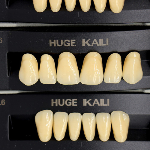 112Pcs/Pack HUGE KAILI A3 Dental Synthetic Polymer Resin Teeth T6 L6 32 A3