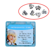 10 boxes Dental orthodontic tube 022 roth bonding convertible single with mark
