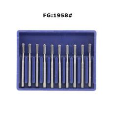 Dental Burs Tungsten Carbide FG1958 for High Speed Handpiece 10pcs/box