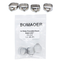 5 packs Dental Orthodontic Roth buccal tube bands For first molar 0.022  40#