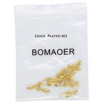30pcs Dental bulk sale endodontic material 24K Gold SCREW POST size M3
