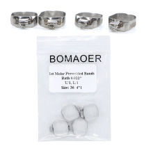 5 packs Dental Orthodontic 36# Roth 0.022  Buccal Tube Bands for first molar