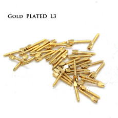 30pcs/pack Dental bulk sale endodontic material 24K Gold SCREW POST size L3