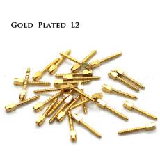 30pcs/pack Dental bulk sale endodontic material 24K Gold SCREW POST size L2