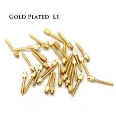 30pcs/pack Dental bulk sale endodontic material 24K Gold SCREW POST size L1