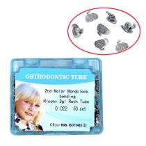 10packs Dental Orthodontic tube 2nd molar bonding n-conv roth 0.022 50 sets/box