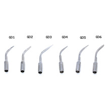 6PCS/PACK Dental scaler piezo tip GD1 GD2 GD3 GD4 GD5 GD6 For Satelec&DTE scaler