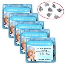 5packs Dental Orthodontic tube 2nd molar bonding n-conv roth 0.022 50 sets/box