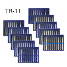 100PC Diamond Burs TR-11 Medium FG 1.6mm for High Speed Handpiece Turbine Dental
