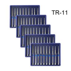 50PCS Diamond Burs TR-11 Medium FG 1.6mm for High Speed Handpiece Turbine Dental