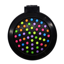 Rainbow Volume Massage Hair Brush Pocket Size Round Hair Brush Comb With Mirror black color