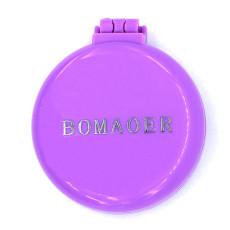 Rainbow Volume Massage Hair Brush Pocket Size Round Hair Brush Comb With Mirror Purple color