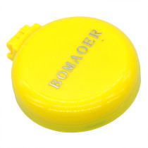 Rainbow Volume Massage Hair Brush Pocket Size Round Hair Brush Comb With Mirror yellow color