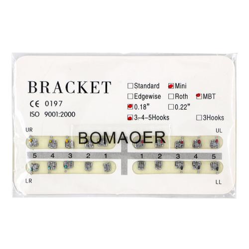 Dental 10 kits Orthodontic Mental Bracket Brace Mini MBT 018 345hooks 20pcs/set