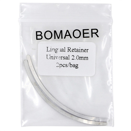 10 packS Dental Orthodontic Lingual Retainer Universal 2.0mm 2pcs/bag