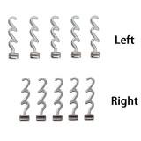 10packs Dental Orthodontic Crimpable Hooks Multi-Function Long Left 10pcs/pack