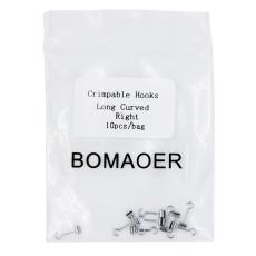 1 pack Dental Orthodontic Crimpable Hooks Long Curved right 10pcs/bag