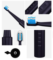 Electric Toothbrush USB Rechargeable Dental Electric Cleaning Brush 4 Toothbrush