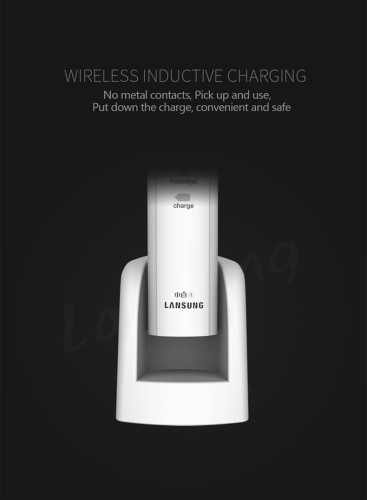 Lansung Electric Toothbrushes Rechargeable Wireless Charger Sonic Toothbrush Ultrasonic Electric Tooth Brush 3 Heads