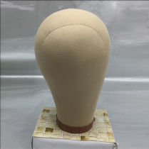 Professional Beauty Canvas Cork Mannequin Block Head Wig Display with Mount Hole