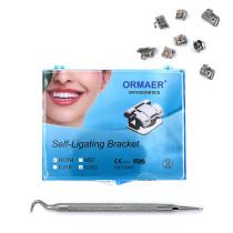 5kits ORMAER Dental orthodontic Self-ligating Brackets roth 022 345 Hooks With tool